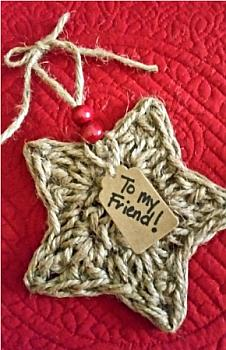 CROCHET STAR TWINE ORNAMENT KIT!